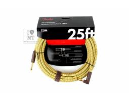FENDER CABLE DELUXE SERIES 25' ANGLED TWEED Кабель инструментальный