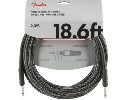 FENDER CABLE PROFESSIONAL SERIES 18.6' GREY TWEED Кабель инструментальный