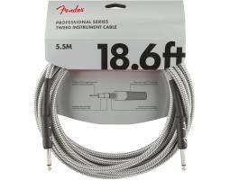 FENDER CABLE PROFESSIONAL SERIES 18.6' WHITE TWEED Кабель инструментальный