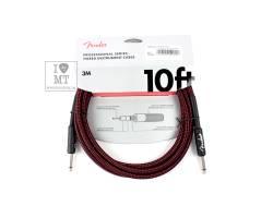 FENDER CABLE PROFESSIONAL SERIES 10' RED TWEED Кабель инструментальный