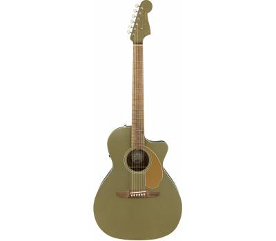 FENDER NEWPORTER PLAYER ICE OLIVE SATIN Гитара электроакустическая