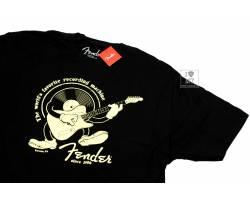 FENDER T-SHIRT RECORDING MACHINE BLACK XL Футболка