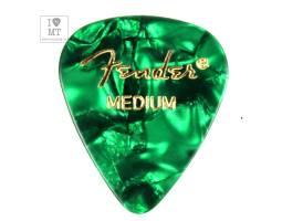FENDER 351 GREEN PICK GROSS MEDIUM Медиатор