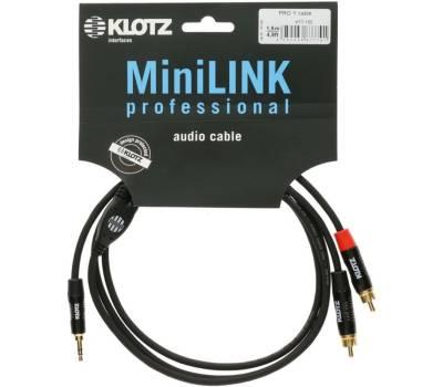 Купить KLOTZ KY7-090 MINILINK PRO Y-CABLE BLACK 0.9 M Кабель коммутационный онлайн