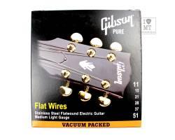 GIBSON FLATWIRES STAINLESS STEEL FLATWOUND Струны для электрогитар
