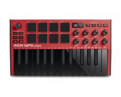 AKAI MPK MINI MK3 Red MIDI клавиатура