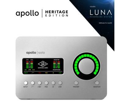 Купить UNIVERSAL AUDIO Apollo Solo Heritage Edition (Desktop/Mac/Win/TB3) Аудиоинтерфейс онлайн