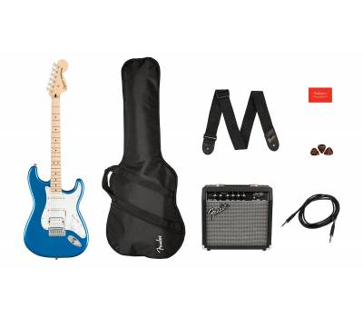 Купить SQUIER by FENDER AFFINITY SERIES STRAT PACK HSS LAKE PLACID BLUE Гитарный набор онлайн
