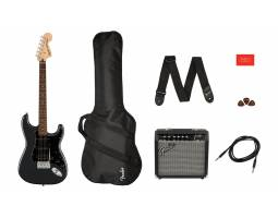 SQUIER by FENDER AFFINITY SERIES STRAT PACK HSS CHARCOAL FROST METALLIC Гитарный набор