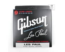 GIBSON SEG-LP9 LES PAUL PURE NICKEL WOUND .009-.042 Струны для электрогитар