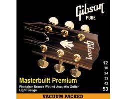 GIBSON SAG-MB12 MASTERBUILT PHOSPHOR BRONZE .012-.053 Струны для акустических гитар
