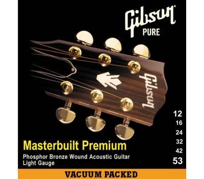 Купить GIBSON SAG-MB12 MASTERBUILT PHOSPHOR BRONZE .012-.053 Струны для акустических гитар онлайн