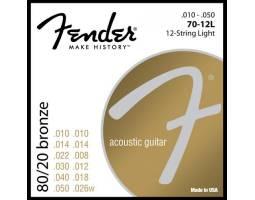 FENDER 70-12L Струны для акустических гитар