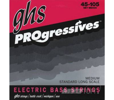 Купить GHS STRINGS M8000 PROGRESSIVES Струны для бас-гитар онлайн