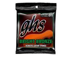 GHS STRINGS BRIGHT BRONZE BB20X Струни для акустичних гітар