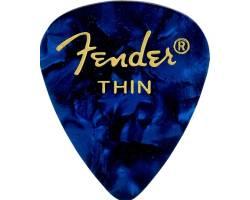 FENDER 351 SHAPE PREMIUM PICKS BLUE MOTO THIN Медіатор