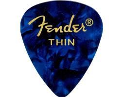 FENDER 351 SHAPE PREMIUM PICKS BLUE MOTO THIN Медиатор